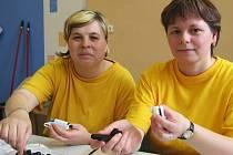 Možnost nvoého pracovního uplatnění v děčínské sociální firmě Slunečnice si  pochvalují také Lucie Hudská a Marta Tomanová.