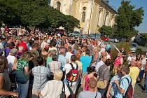 Shromáždění ve Varnsdorfu.