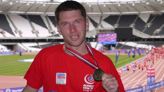 ZÁŽITEK NA CELÝ ŽIVOT. Lukáš Matys na olympijském stadionu v Londýně.