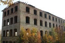 Bývalá textilní továrna v Západní ulici ve Varnsdorfu.
