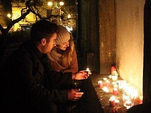 Shromáždění u příležitosti výročí 17. listopadu v Děčíně.