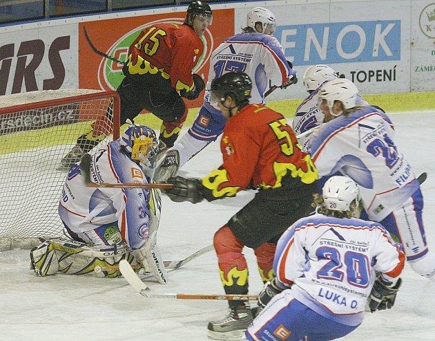 První utkání play off děčínští hokejisté v Trutnově nezvládli.