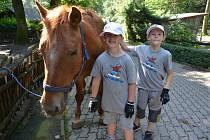 Děti si pobyt v zoo užily.