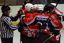 OBLÍBENÝ SOUPEŘ. Medvědi i podruhé v sezóně porazili Moravské Budějovice. Po domácí výhře 7:2 tentokráte zvítězili na ledě soupeře 5:4 v prodloužení.