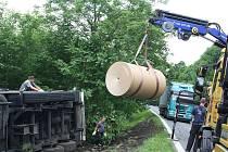 Nehoda kamionu u Huntířova