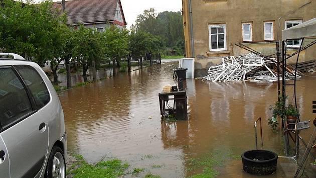 Markvartice zaplavila velká voda
