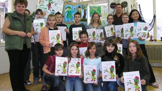 Školáci se totiž  zapojili do výtvarné soutěže Kytlický vodník