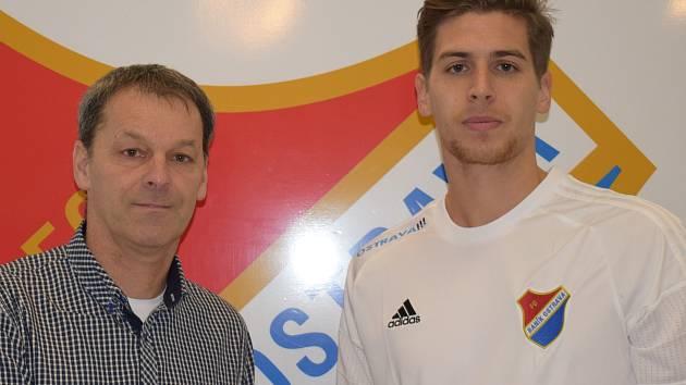 ALEXANDER JAKUBOV v dresu FC Baník Ostrava.