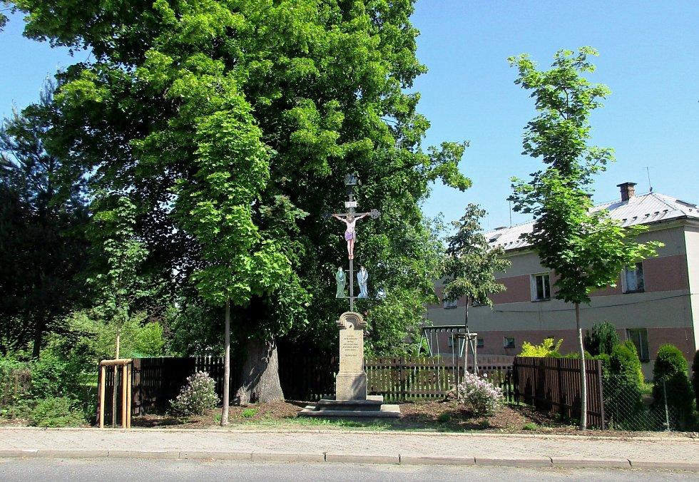 Nová zeleň v ulici T. G. Masaryka.