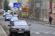 Dělnická ulice v Děčíně.
