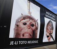 Výstava Stop genocidě v Děčíně.