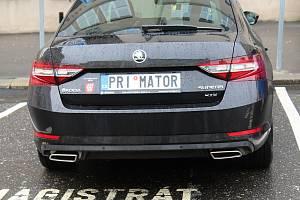Nové auto děčínského primátora Jaroslava Hroudy.