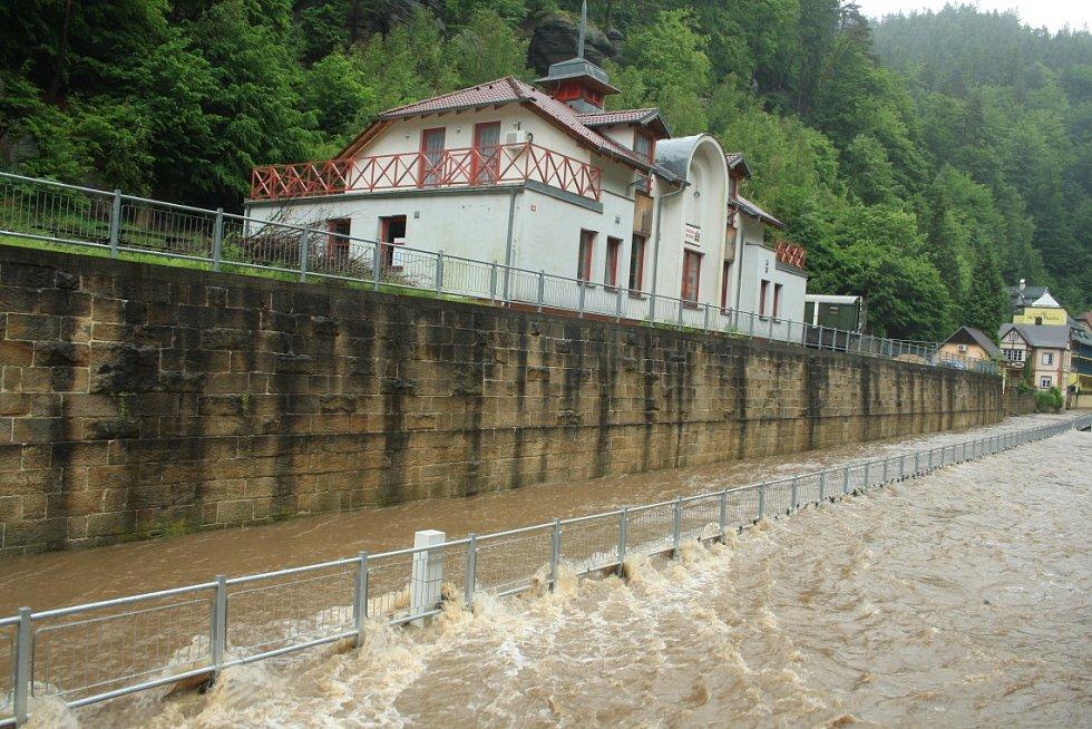 Povodně Hřensko 2013.