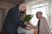 Nejstarší občance Rumburku popřál starosta v pátek.