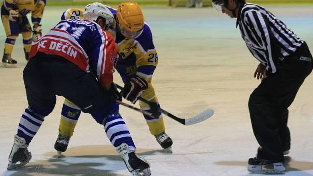 Hokejisté Děčína na svém ledě bojovali s Nymburkem. Nakonec skončili s jedním bodem.