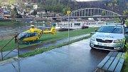 Záchranáři zasahovali na ferratě v Děčíně.