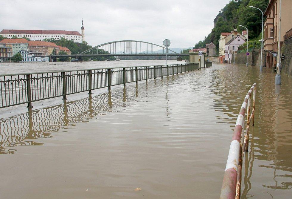 Povodně v Děčíně 4.6.2013