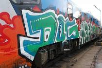 Poničené vlaky Českých drah