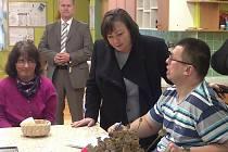 První dáma má za sebou návštěvu Ústavu sociální péče ve Snědovicích.