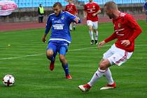 VARNSDORF (v modrém Ondráček) doma prohrál s Třincem 0:1.