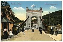 Řetězový most v Děčíně.