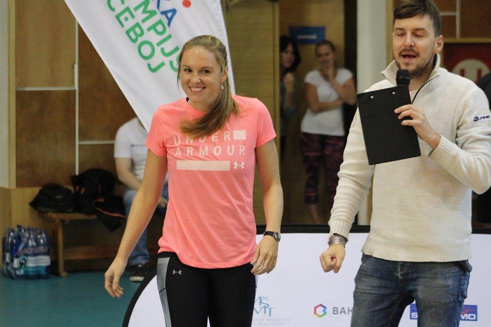 OLYMPIJSKÝ TRÉNINK. V České Kamenice se objevila i Kristýna Hoidarová Kolocová.