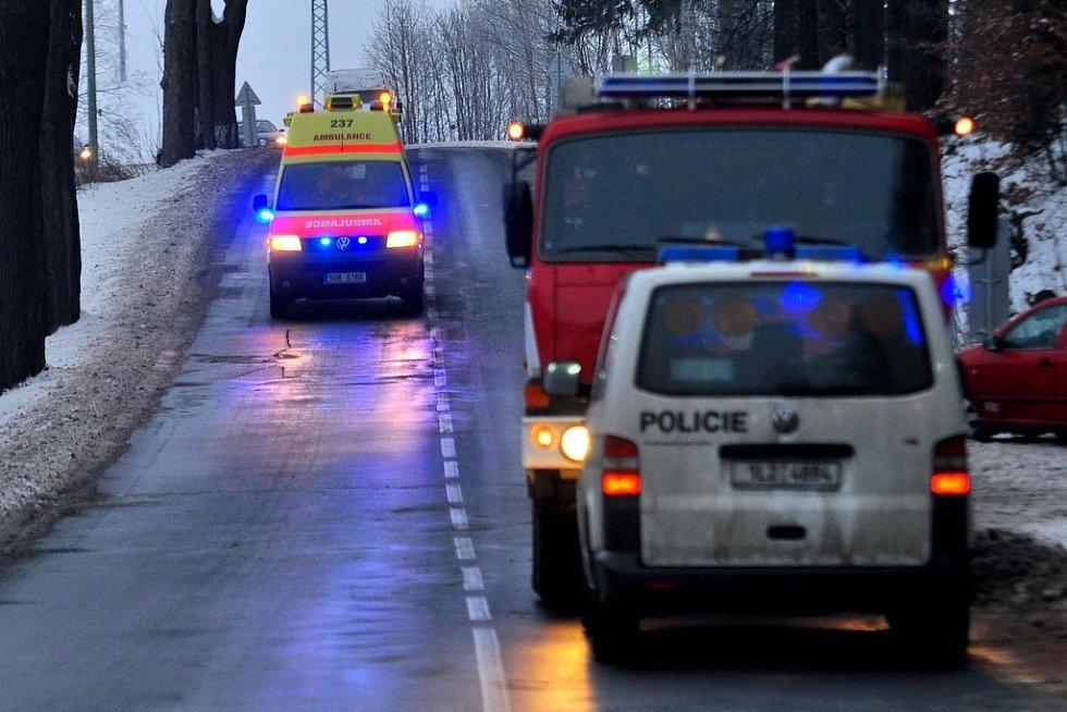 Srážka vlaku a dodávky ve Valdeku.