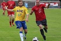 RADIM BREITE (ve žlutém) odehrál proti Radčicím druhý poločas.