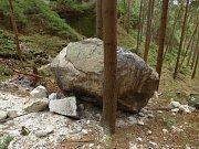 V Českém Švýcarsku se zřítil kámen o velikosti tanku.