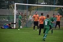 Malšovice (v zeleném) porazily doma Boletice 3:0.