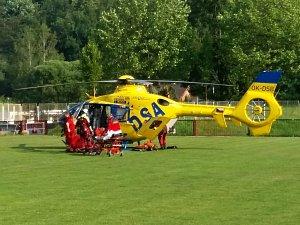 Vrtulník letěl pro zraněného cyklistu