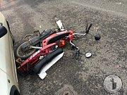 Vážná dopravní nehoda v Benešově nad Ploučnicí.