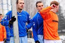 REMÍZA. Vilémov (v modrém) hrál s Českým Brodem nerozhodně 2:2.
