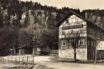 Zaniklá osada na česko - německých hranicích Zadní Jetřichovice.