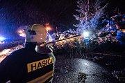 Vítr řádil v noci z neděle na pondělí 11. března i na Šluknovsku
