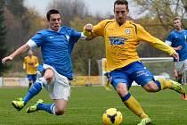 VARNSDORF (ve žlutém) doma nezaváhal a porazil Vlašim 2:0.