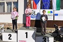 Kategorie HDR  na stupních Děčínské 1. Viola Šafaříková 2. Verča Nehasilová a 3. Liberecká Elin Martanová.