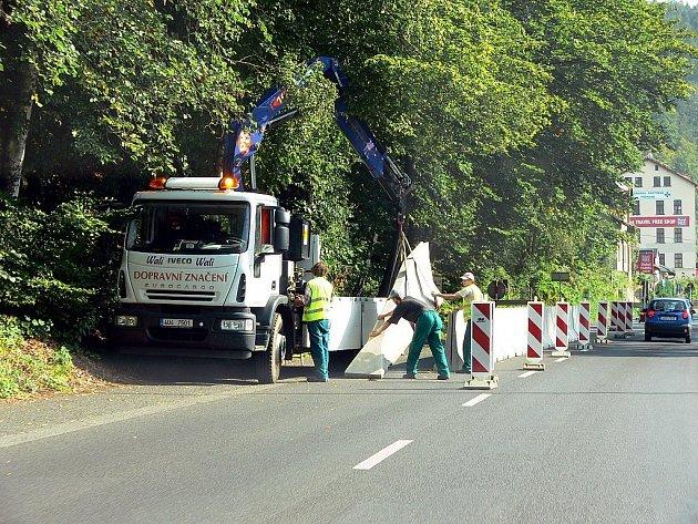 Správa Národního parku České Švýcarsko provedla zabezpečovací silnice mezi Hřenskem s Schmilkou