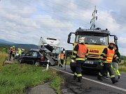 Smrtelná dopravní nehoda u Ludvíkovic.
