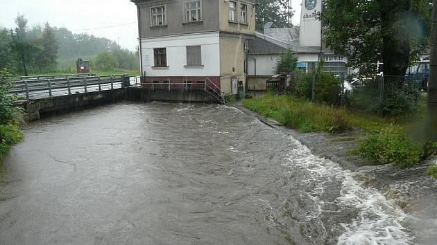 Velká voda v Rumburku.