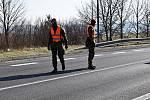 Vojáci pomáhají hlídat v Rumburku hranice.