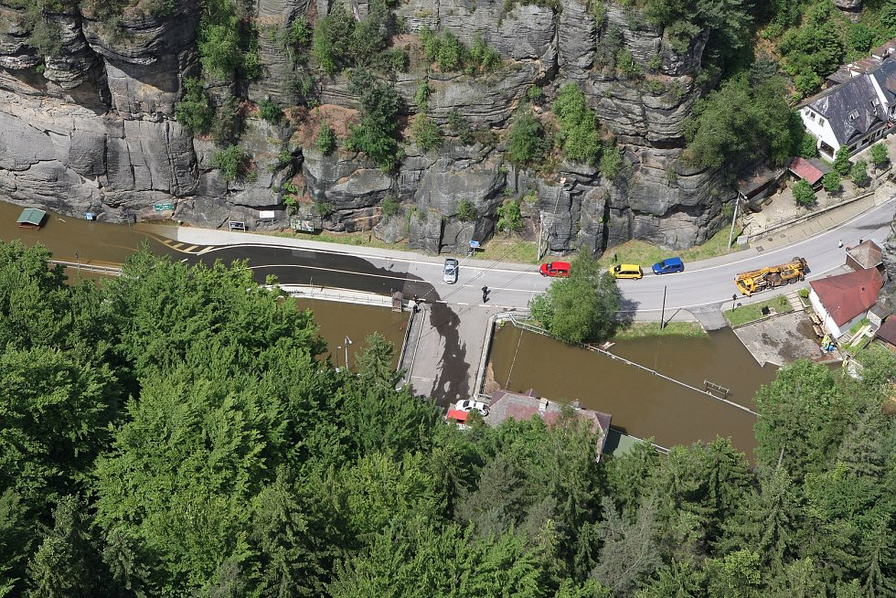 Povodně na Děčínsku  v červnu 2013.
