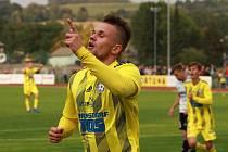 STŘELEC. David Breda je se 4 góly nejlepší střelec Varnsdorfu. Branku slavil i proti Zlínu (na snímku).