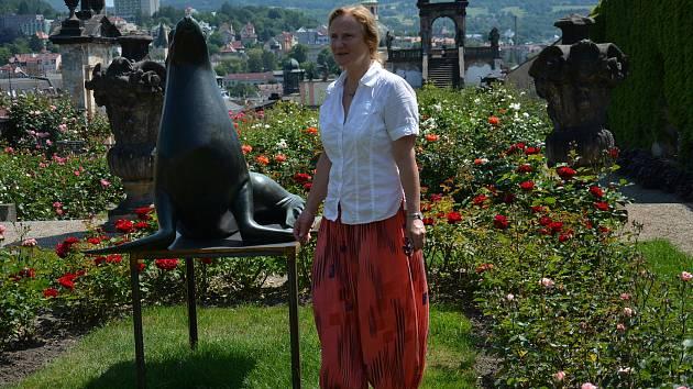 Výstava Léto se sochami v Růžové zahradě děčínského zámku.