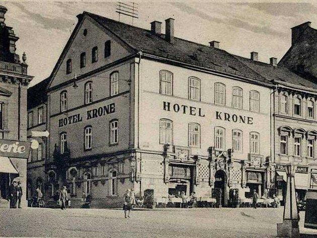 Masarykovo náměstí v Děčíně v roce 1931