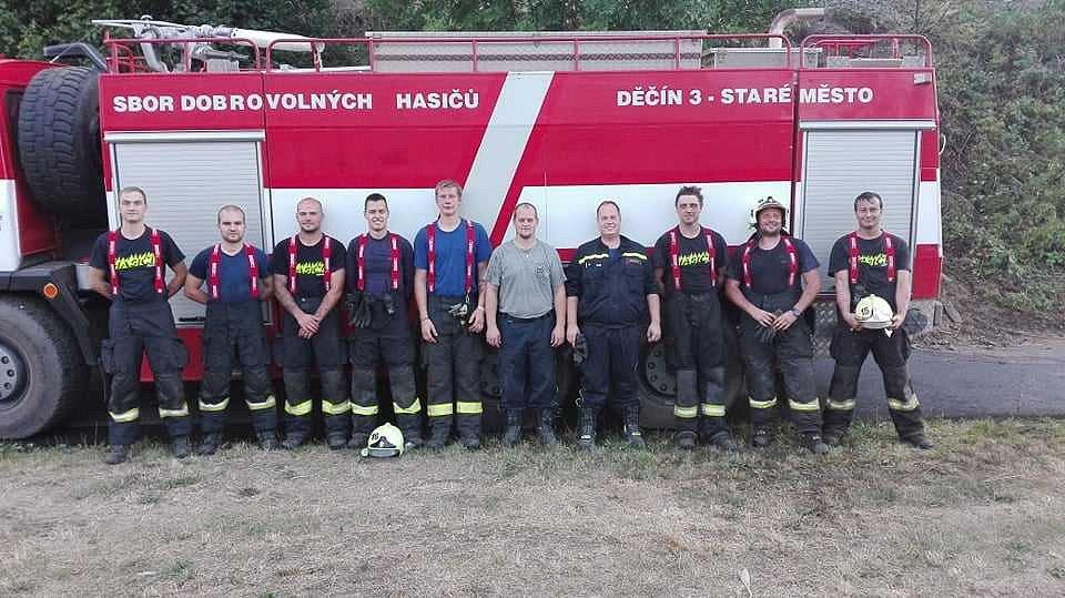 Zasahovali také hasiči z JSDH Staré Město, Děčín