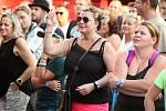 V Krásné Lípě oslavili v sobotu 31. srpna Den Českého Švýcarska. Zahrály i kapely Wohnout a Sto zvířat.