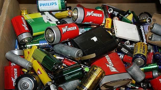 Baterie. Ilustrační foto.