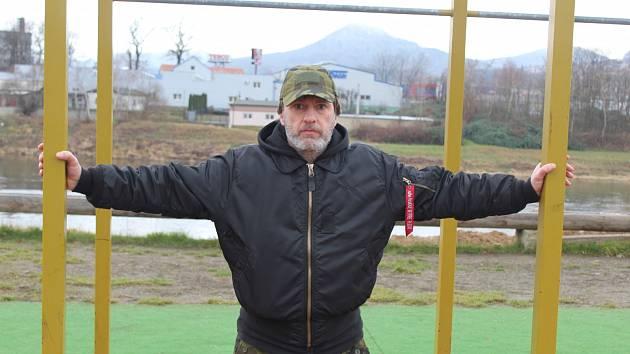 Milan Veselý využívá na trénování venkovní prostory. Každý den.