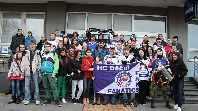 Fanoušci HC Děčín.